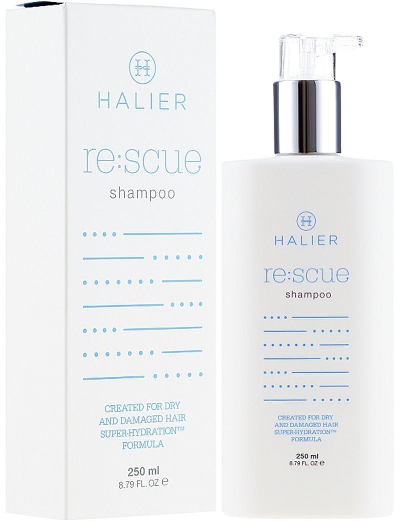 Obnovující šampon pro suché a poškozené vlasy - Halier Re:scue Šampon 250 ml