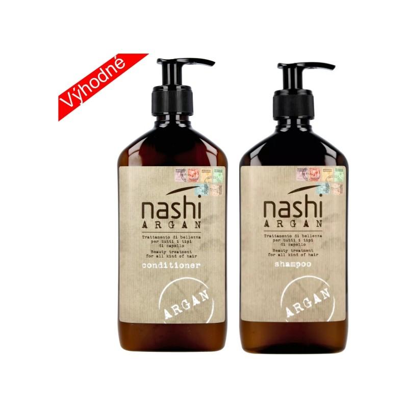 Nashi duo combo pack 2x 500ml šampon + kondicionér NASHI ARGAN