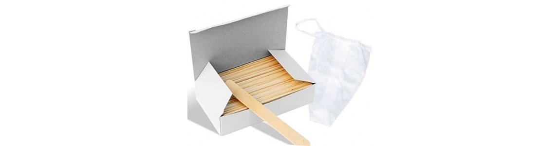 Depilační pásky, špachtle na vosk